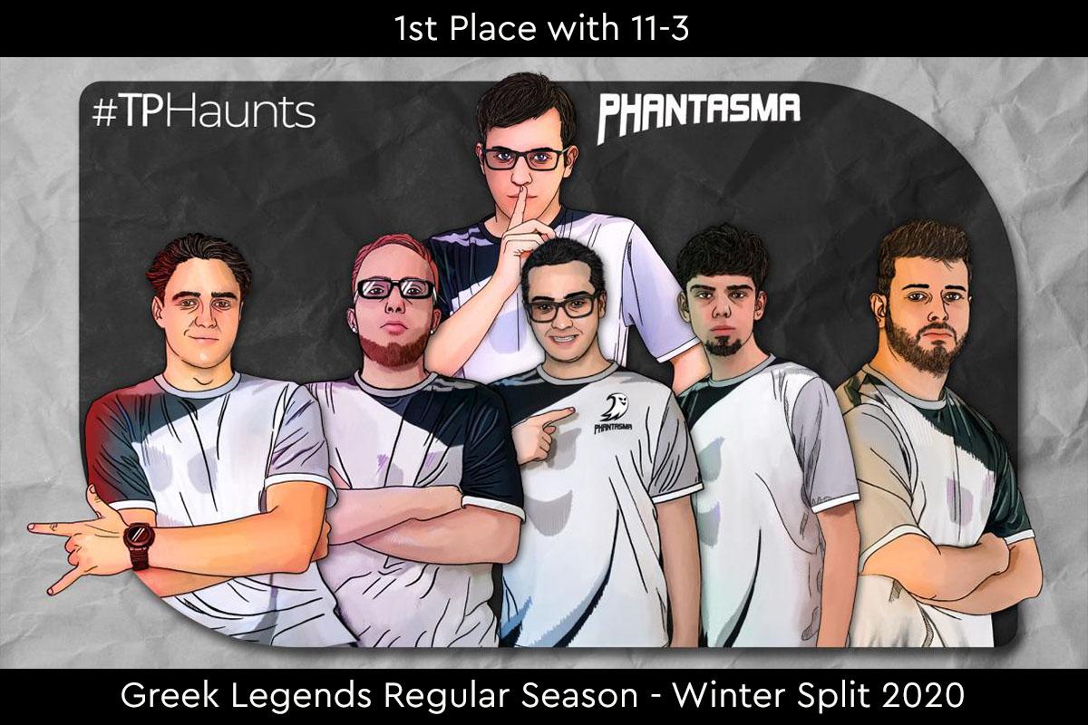 Greek Legends | Συγχαρητήρια στην ομάδα μας για την πρώτη θέση στην Regular Season – Winter Split 2020!
