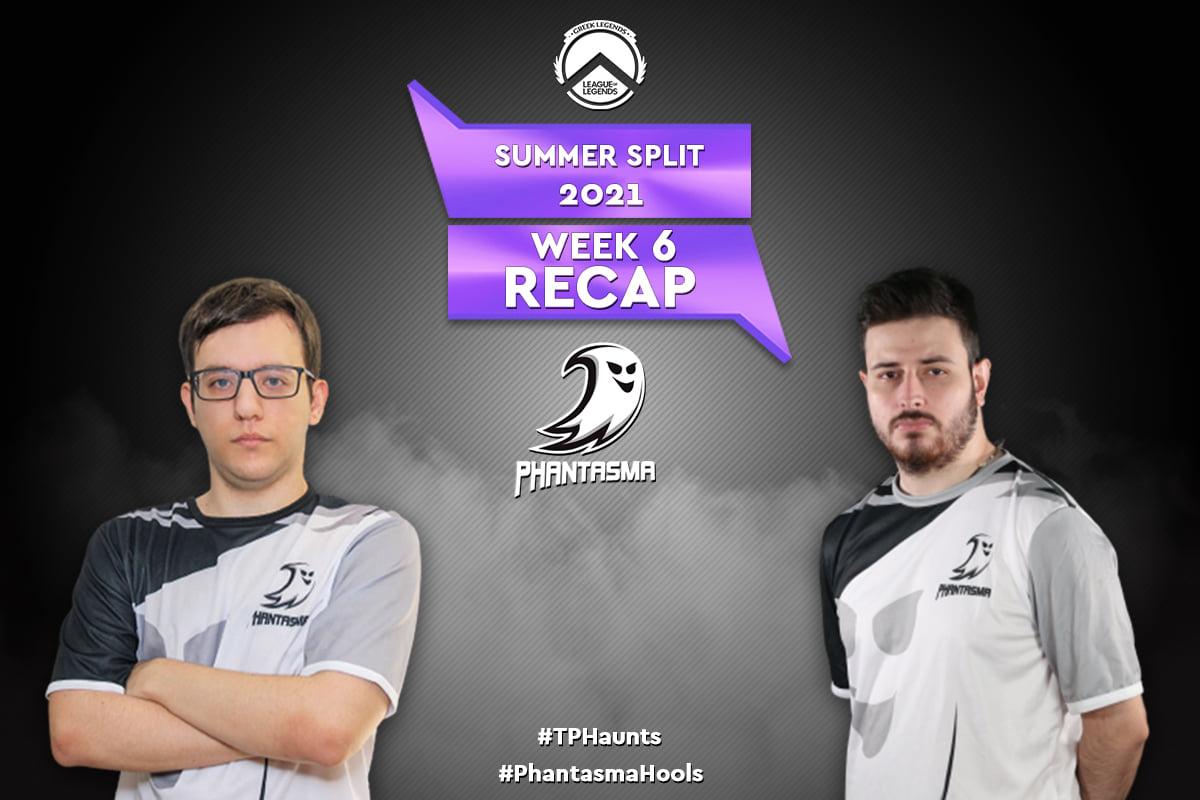 GLL Summer Split 2021 | Week 6 – Recap | 3η Θέση στην Regular Season για την Team Phantasma!